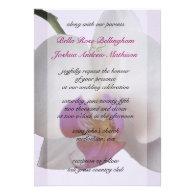 Pink Orchid Wedding Invitation