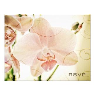 Pink Orchid • Wedding Invitation RSVP