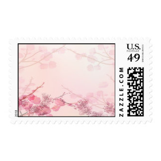 Pink Orchid Wedding Postage