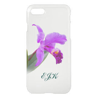 Pink Orchid with Monogram iPhone 7 Case
