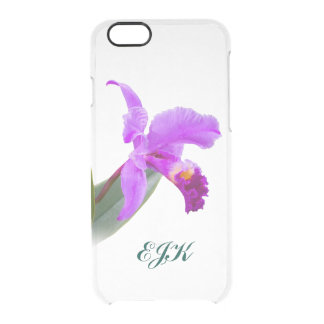 Pink Orchid with Monogram Uncommon Clearly™ Deflector iPhone 6 Case