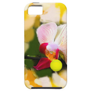 Pink orchid with tennis ball iPhone SE/5/5s case