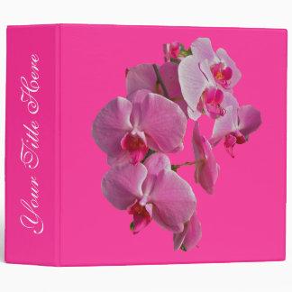 Pink Orchids Binder