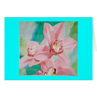pink orchids cards
