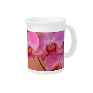 Pink Orchids Drink Pitcher