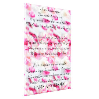 Pink Orchids HAPPY ANNIVERSARY! Wrapped Canvas! Canvas Print