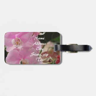 Pink Orchids Luggage Tags