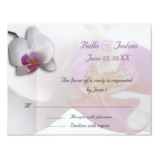 Pink Orchids RSVP Custom Invitation