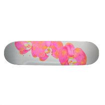 Pink Orchids Skateboard