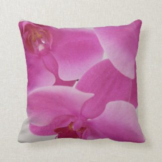 Pink Orchids Throw Pillows
