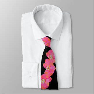 Pink Orchids Tie