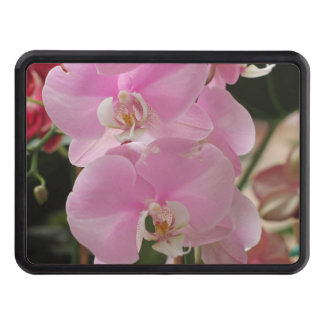 Pink Orchids Trailer Hitch Cover