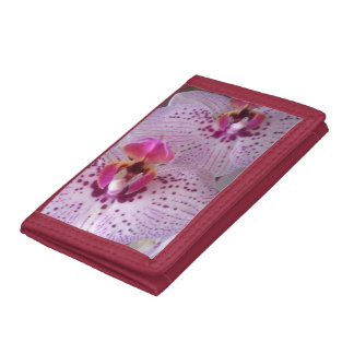 Pink orchids woman's wallet