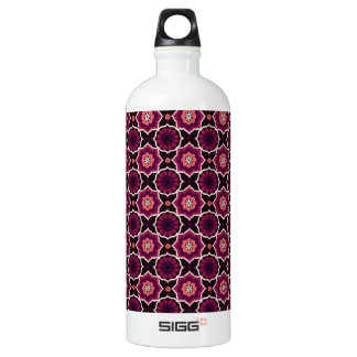 Pink oriental pattern water bottle