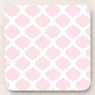 Pink Ornate Pattern Beverage Coaster