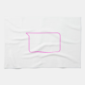 Pink Outline Chat Custom Message Bubble Hand Towel