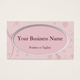 Pink Oval Business Card