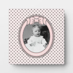 Pink Oval Frame with Bow - Customize with Your Pic Plaques