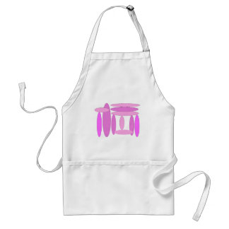 Pink Oval Shapes Adult Apron