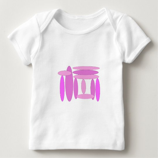Pink Oval Shapes Baby T-Shirt