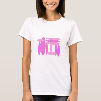 Pink Oval Shapes T-Shirt