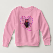 PINK OWL 92 SPOTTED HEART SWEATSHIRT