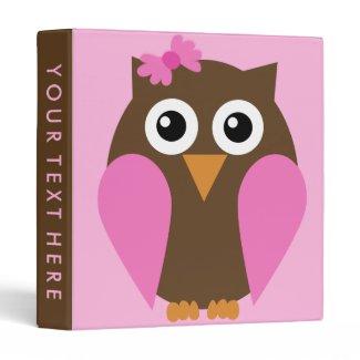 Pink Owl & A Bow Binder binder