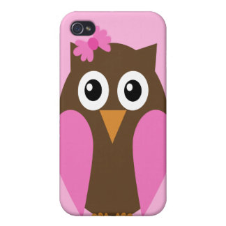 Pink Owl & A Bow iPhone4 Case iPhone 4/4S Cases
