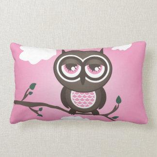 Pink Owl  American Mojo Throw Pillow