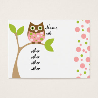 Pink Owl Baby Business Card