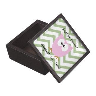 Pink Owl Baby Girl Gift Box