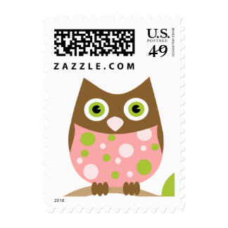 Pink Owl Baby Postage
