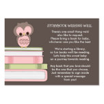 Pink Owl Baby Shower Book Insert Request Card Large Business Cards (Pack Of 100)