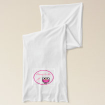 Pink Owl Baby Shower Scarf