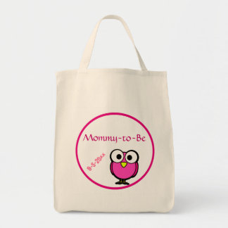 Pink Owl Baby Shower Tote Bag