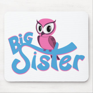 Pink Owl Big Sister Mouse Pad