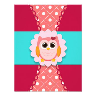 Pink Owl Birthday Invitation for Kids