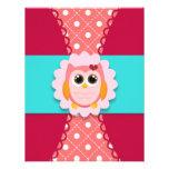 Pink Owl Birthday Invitation for Kids