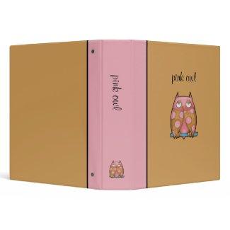 Pink Owl brown Binder binder