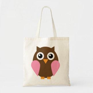 Pink Owl Budget Tote Bag
