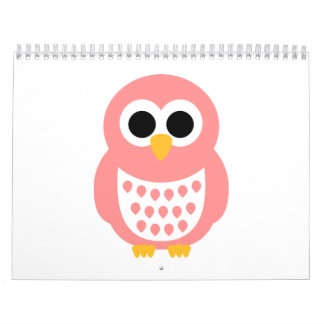 Pink owl calendar