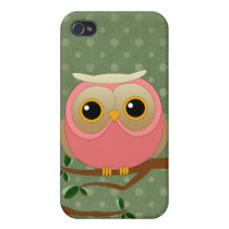 Pink Owl Case For iPhone 4