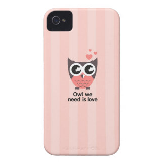 Pink owl case for phone iPhone 4 Case-Mate cases