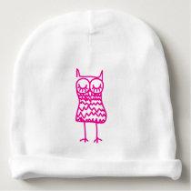 Pink Owl Cotton Baby Beanie Hat