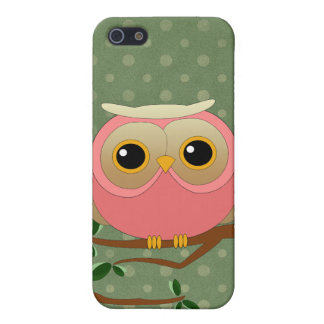 Pink Owl Cover For iPhone SE/5/5s