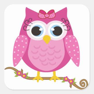 Pink Owl design Gifts Sticker