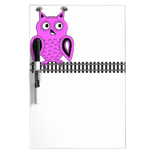 Pink Owl Dry Erase Whiteboards