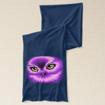Pink Owl Eyes Scarf