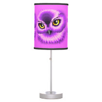 Pink Owl Eyes table_lamp Table Lamp