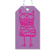 Pink Owl Gift Tag